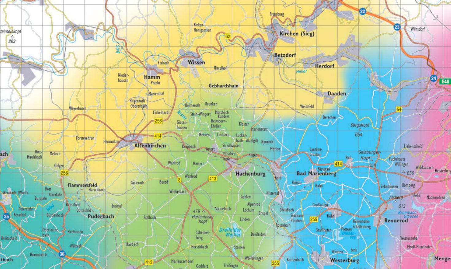 Westerwald Karte.Umgebung Camping Nistertal Im Westerwald